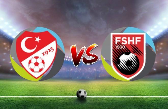 Turqia vs. Shqipëria, formacionet zyrtare