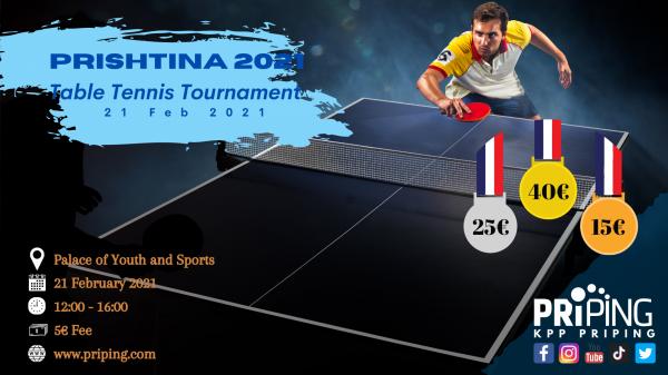Priping organizon turne të pingpongut me pjesëmarrje të hapur