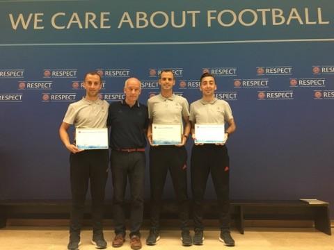 Tre gjyqtarë nga Kosova diplomojnë në UEFA Core