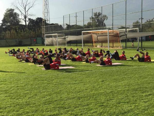 Arbëria zhvillon stërvitjen e parë në Antalya