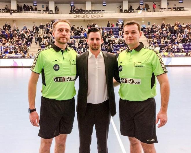 Gjyqtarët Vitaku me sukses drejtuan ndeshjen e EHF CUP në Portugali