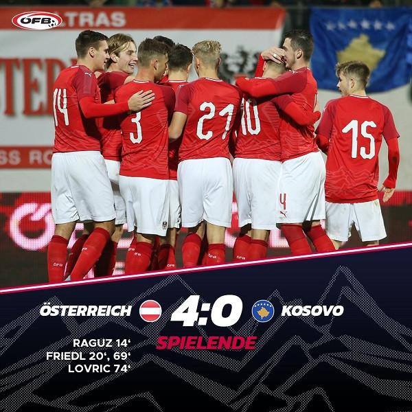 Austria U21 mposht thellë Kosovën U21