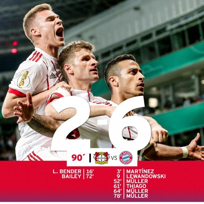 Bayerni me gol show në finale të Kupës