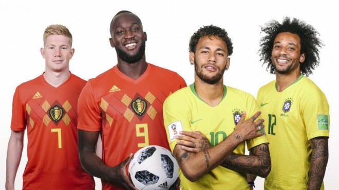 Formacionet: Brazili - Belgjika