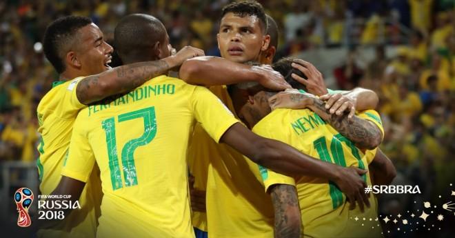 Brazili dërgon Serbinë në shtëpi