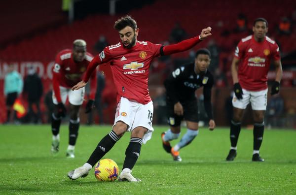 Fernandes vazhdon shkëlqimin, United barazohet me Liverpoolin