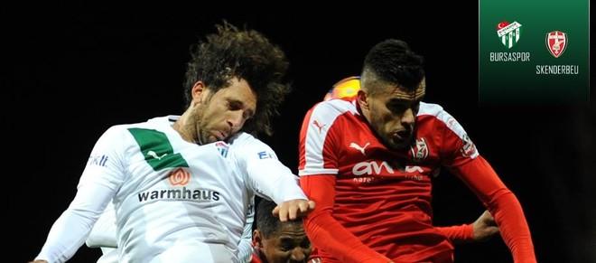 Skënderbeu barazon me Bursasporin
