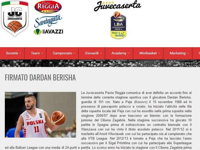 Juvacaserta prezenton Berishën