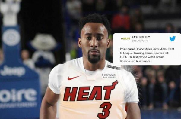Myles në kampin e Miami Heatit në G-League
