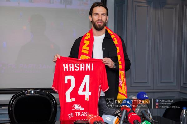 Ferhan Hasani prezentohet te Partizani