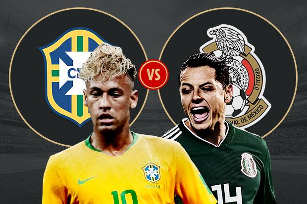 Formacionet: Brazili - Meksika
