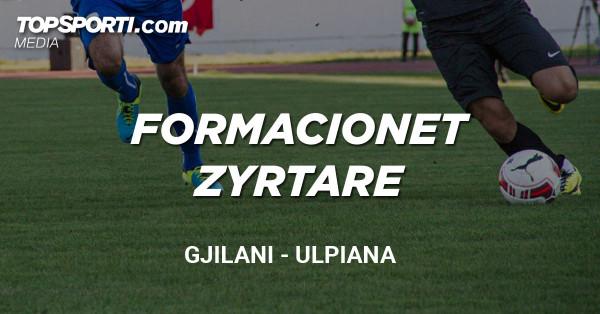 Formacionet zyrtare: Gjilani - Ulpiana
