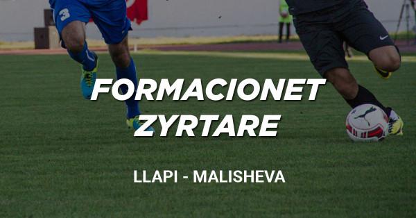 Formacionet zyrtare: Llapi - Malisheva