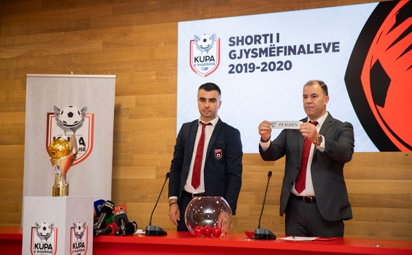 Hidhet shorti i gj'finaleve të Kupës së Shqipërisë