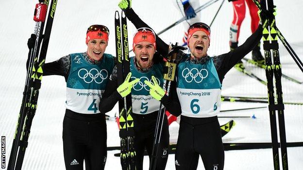 Gjermania mbledh medaljet në kombinim nordik