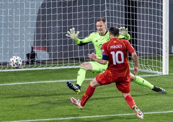 Befasi e dorës së parë: Maqedonia Veriore fiton si mysafire ndaj Gjermanisë