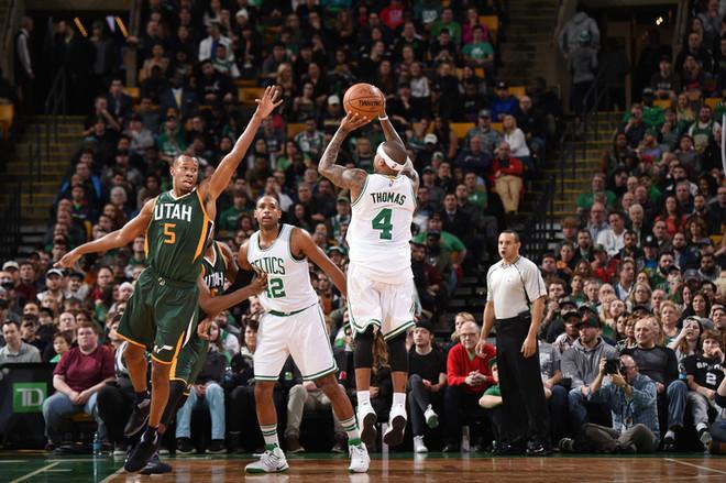 Thomas me rekord personal, Celtics mposht Jazzin