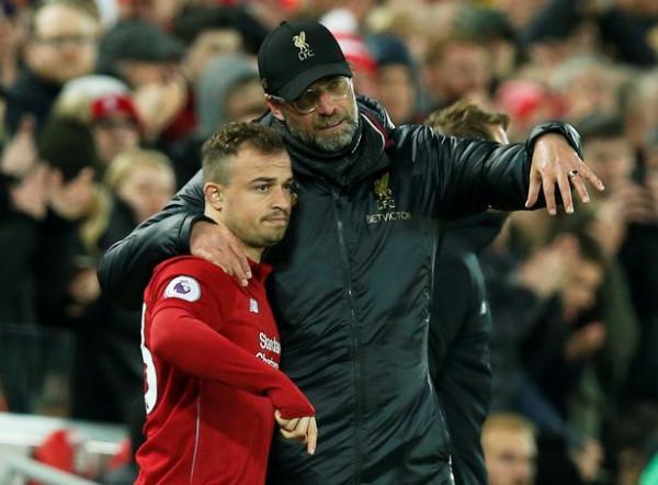 Jurgen Klopp vlerëson lartë paraqitjen e Shaqirit kundër Manchester Unitedit