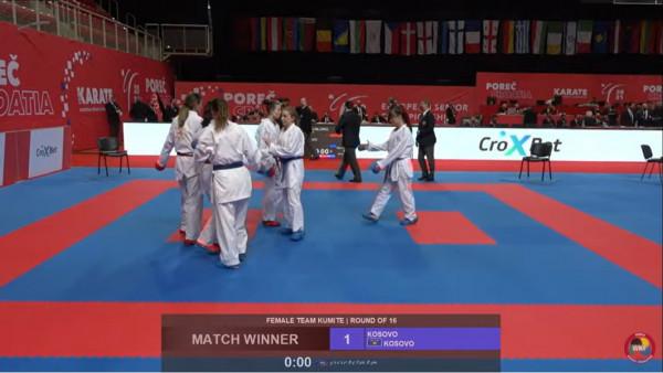 Karateistet e Kosovës përfundojnë në vendin e shtatë në Evropian