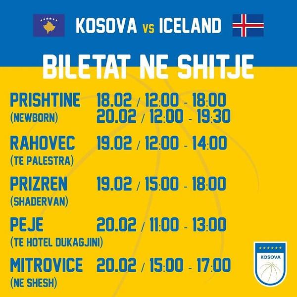 Dalin në shitje biletat për Kosova - Islanda