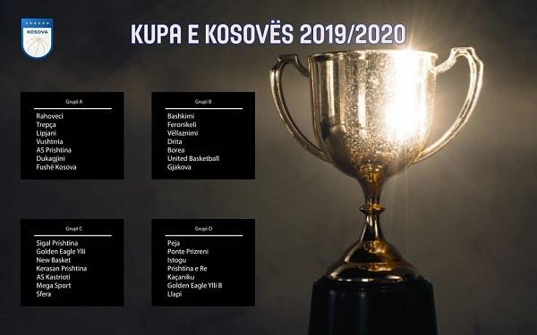 Caktohen grupet për Kupën e Kosovës