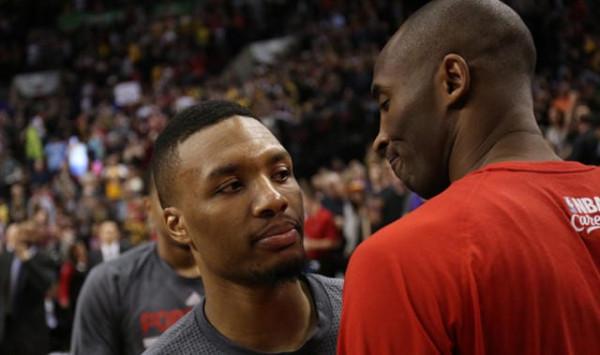 Damian Lillard kalon Kobe Bryantin
