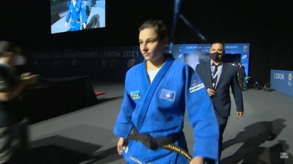 Loriana humb ndeshjen për medalje të bronztë, përfundon e pesta