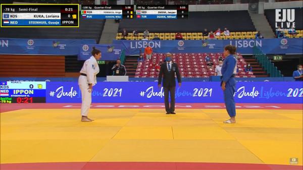 Loriana mposhtet në gjysmëfinale, vazhdon garën për medalje të bronztë