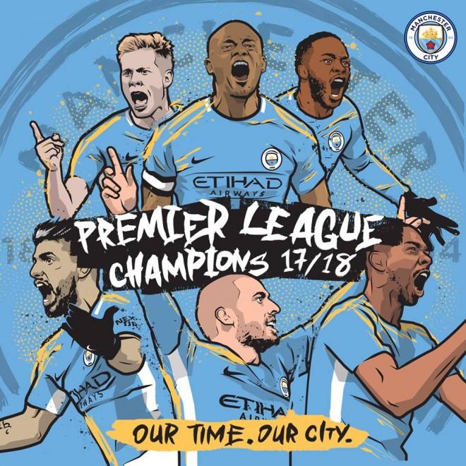 Manchester City zyrtarisht kampion