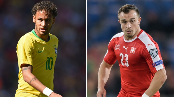 Brazili vs. Zvicra, formacionet startuese