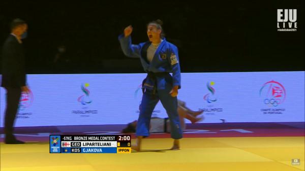 Medalja e dytë në Evropian, Nora Gjakova fiton të bronztën