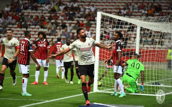 Giroud debuton me gol te Milani