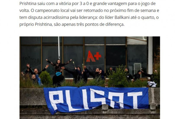 """Përkrahja e """"Plisave"""" dëgjohet edhe në Brazil"""