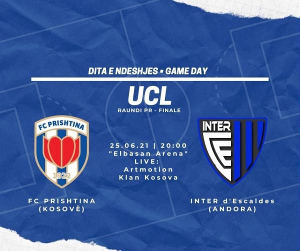 Formacionet zyrtare: Prishtina - Inter d'Escaldes