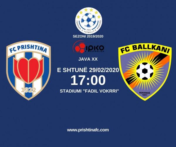Formacionet zyrtare: Prishtina - Ballkani