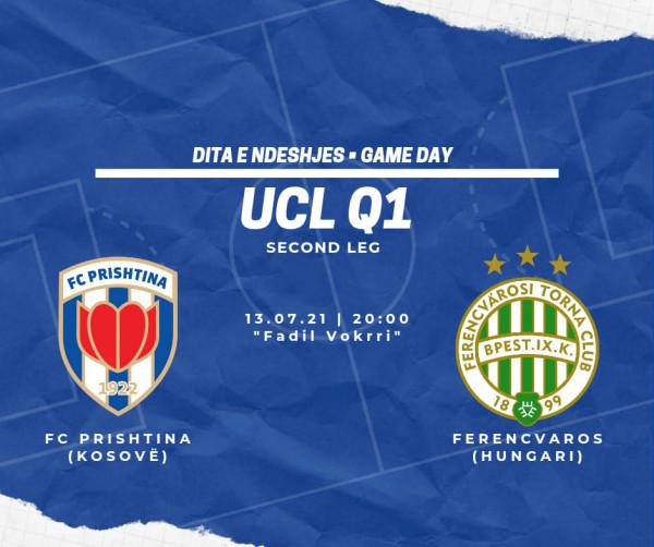 Sonte ndeshja Prishtina - Ferencvaros