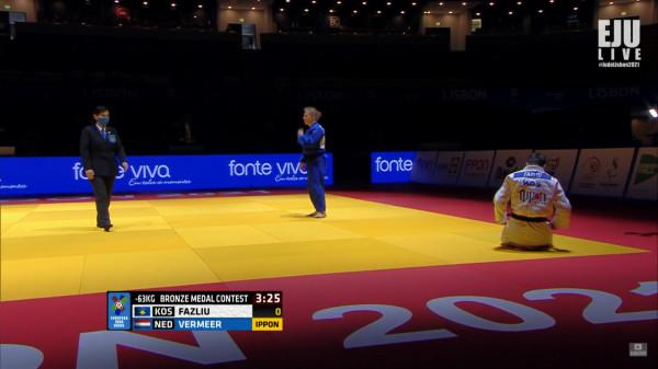Fazliu humb luftën për medalje të bronztë, përfundon e 5-ta