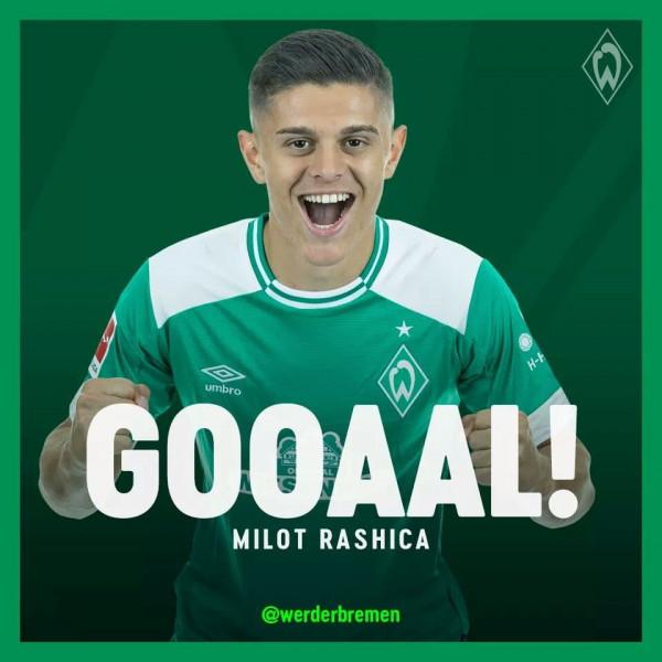 Rashica i jep epërsinë Werderit ndaj Dortmundit