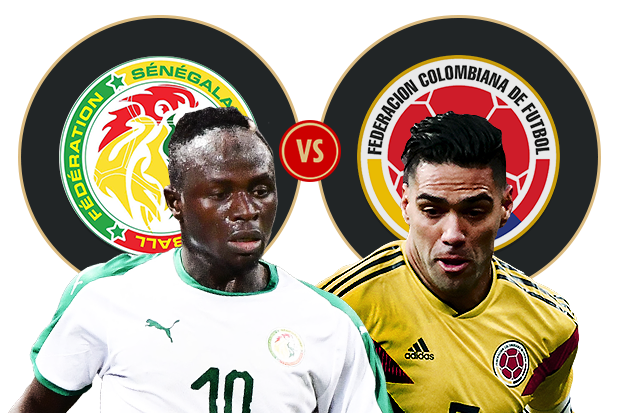 Formacionet: Senegali - Kolumbia