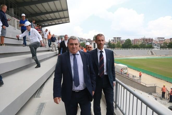 Gjendja e stadiumit të Prishtinës, e kënaqshme për Ceferinin