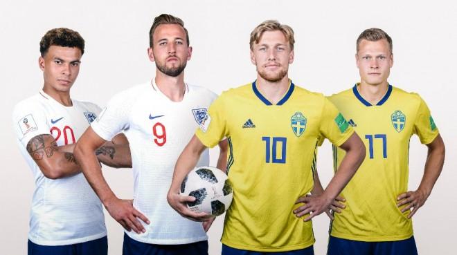 Formacionet: Suedia - Anglia