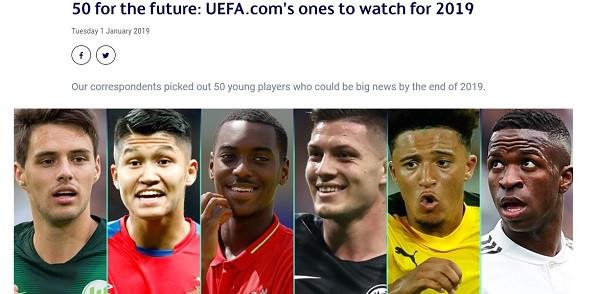 50-shja e së ardhmes nga UEFA