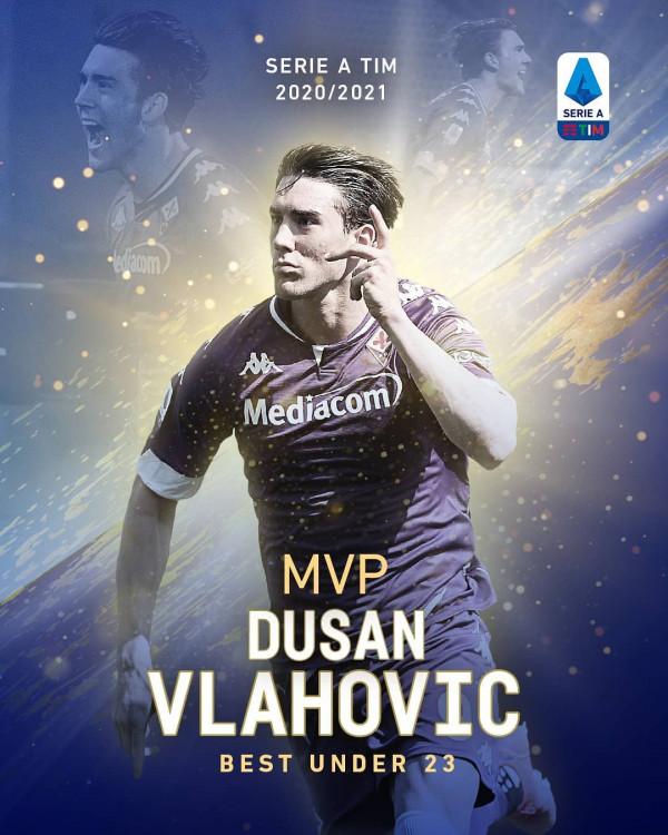 Dušan Vlahović, lojtari më i mirë U23 në Serie A