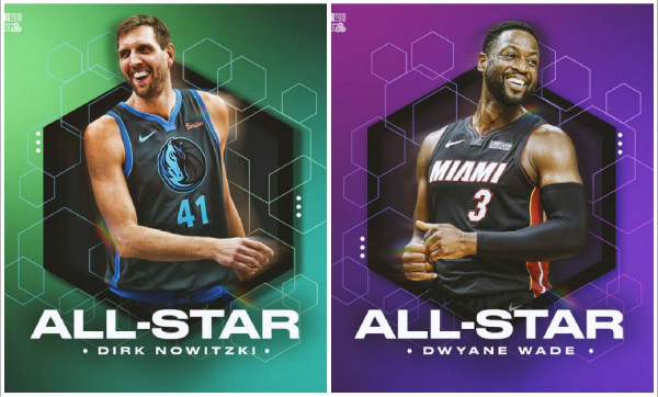 Nowitzki e Wade ftohen në All Star