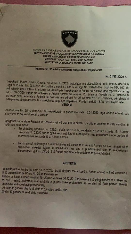 Arianit Ahmeti Vendimi IP