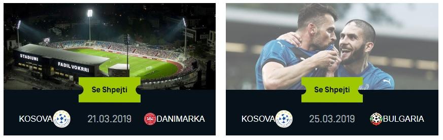 Kosovo vs Denmark & Kosovo vs Bulgaria