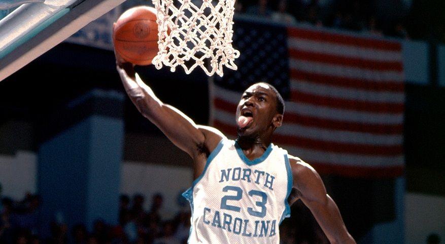 Michael Jordan score North Carolina NCAA