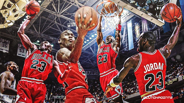 Michael Jordan Chicago Bulls dunking